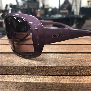 Prada Purple Elongated Square Sunglasses